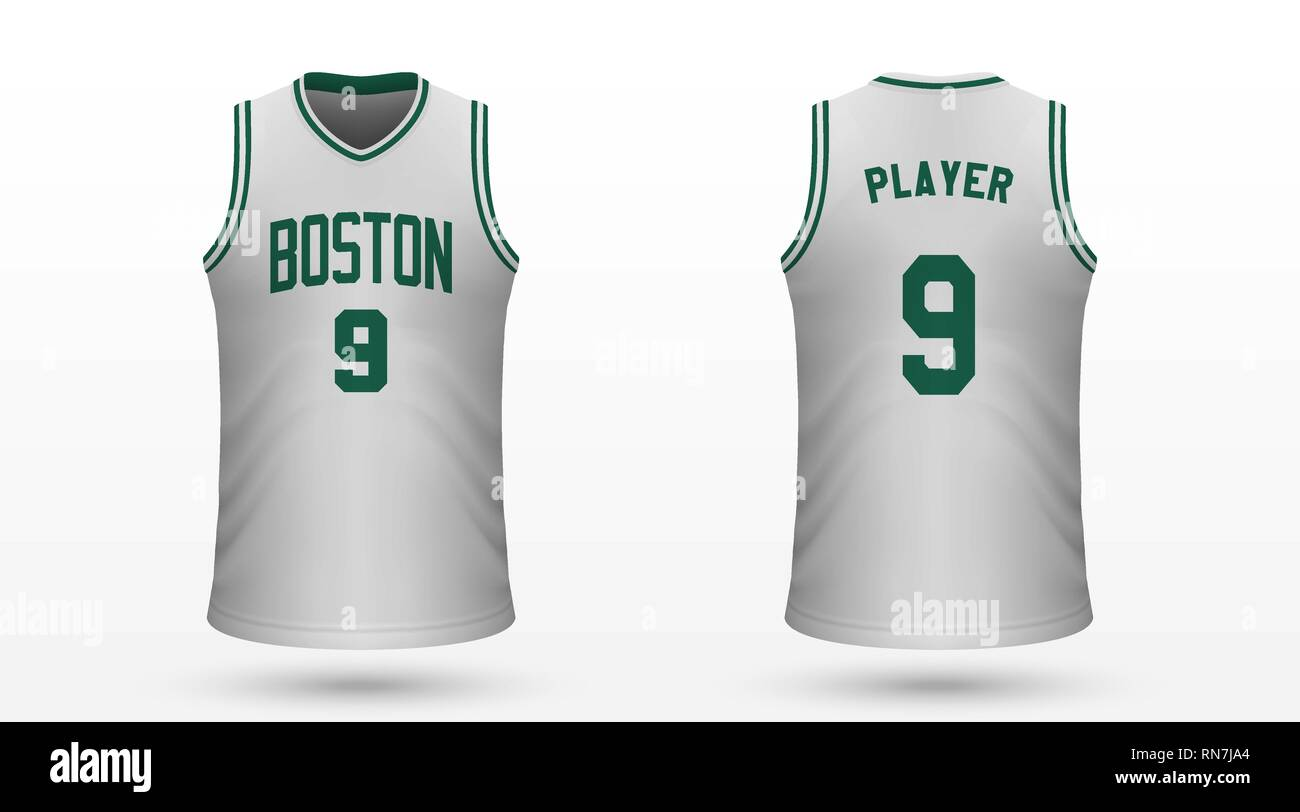 newest collection fc0de 09133 Realistic sport shirt Boston Celtics, jersey template for ...