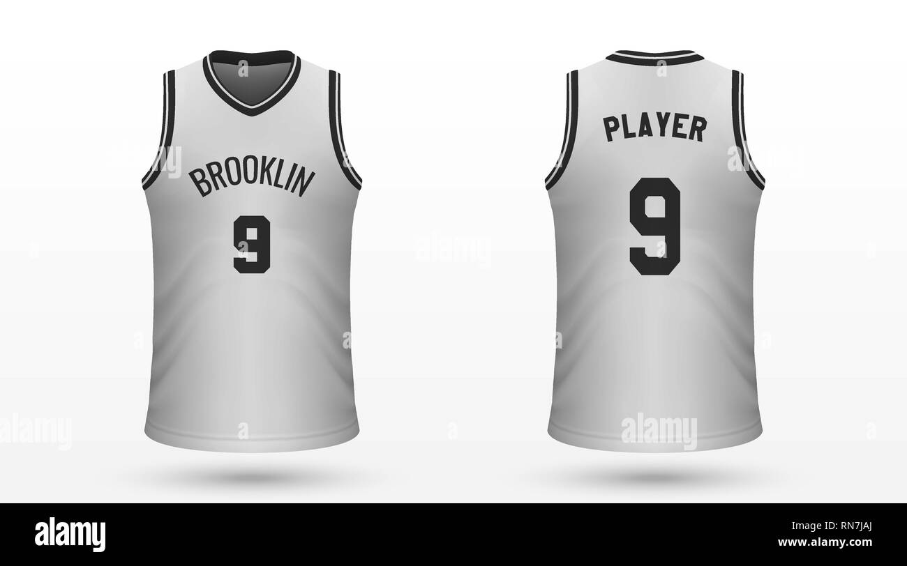 new arrivals 4c7d8 3689e Realistic sport shirt Brooklyn Nets, jersey template for ...
