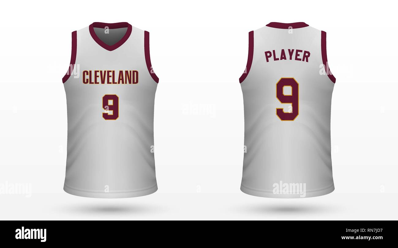 9c3d4454 Realistic sport shirt Cleveland Cavaliers, jersey template for basketball  kit. Vector illustration