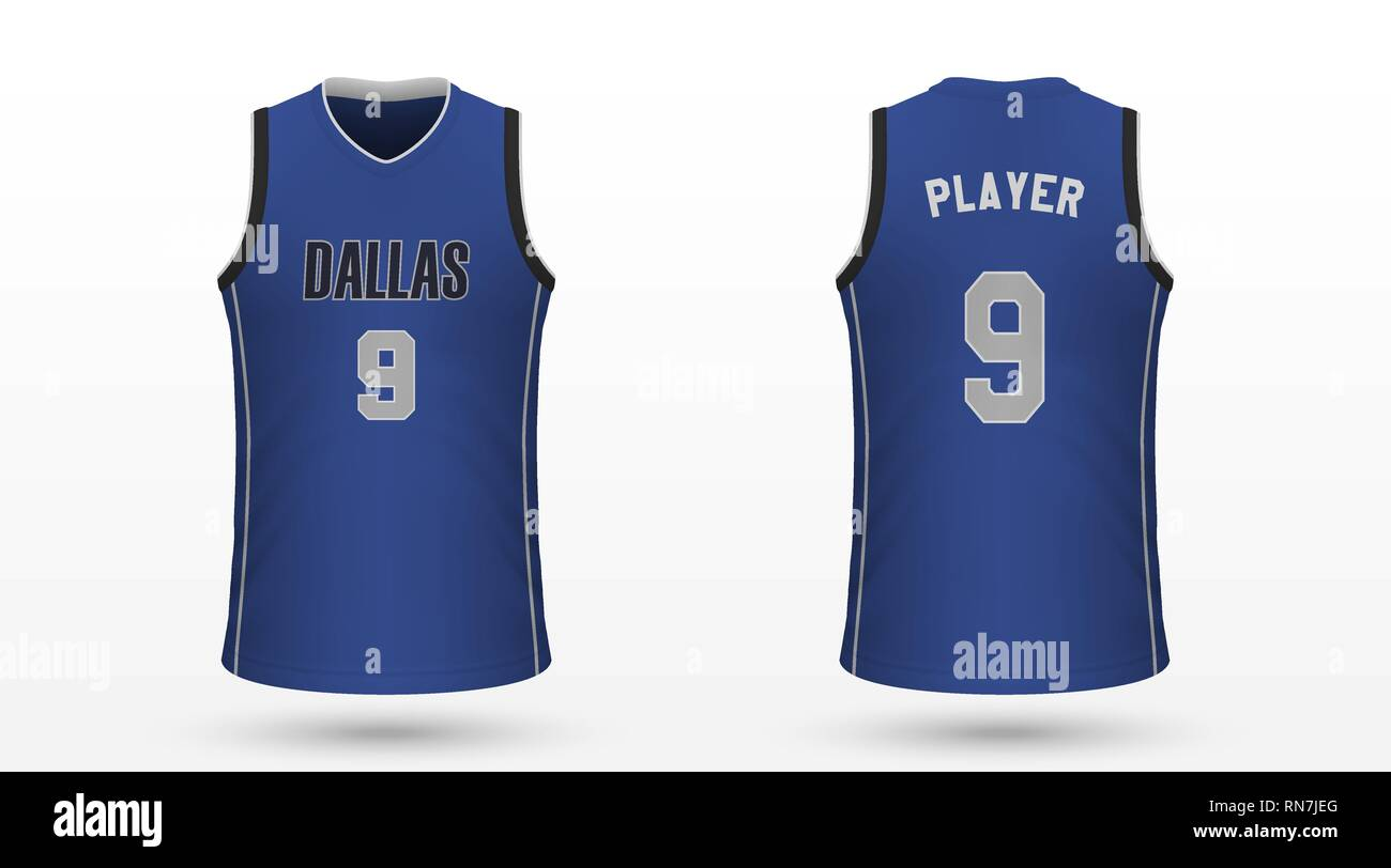 reputable site 45665 83019 Realistic sport shirt Dallas Mavericks, jersey template for ...