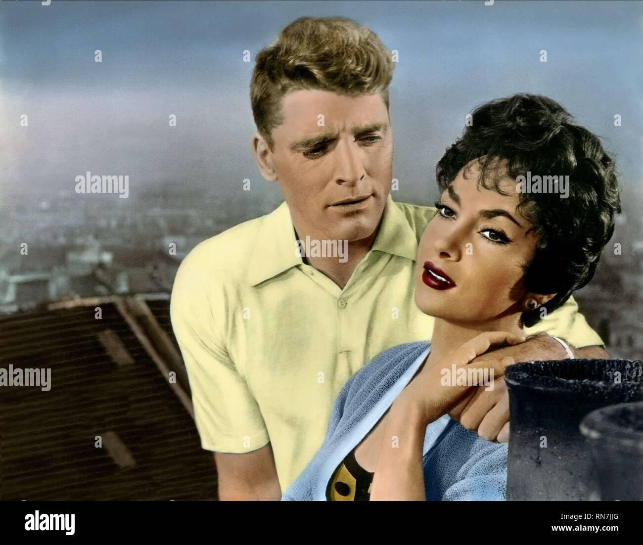 LANCASTER,LOLLOBRIGIDA, TRAPEZE, 1956 - Stock Image