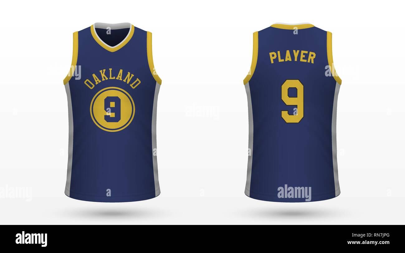 watch 5d2c7 8adca Realistic sport shirt Golden State Warriors, jersey template ...