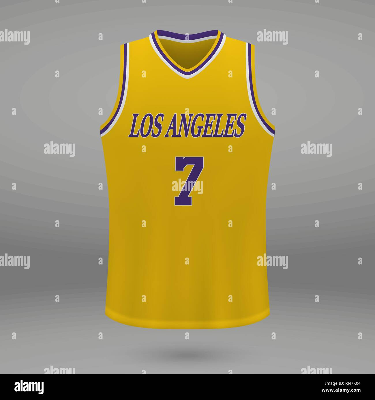 627d6b8efa77f4 Realistic sport shirt Los Angeles Lakers