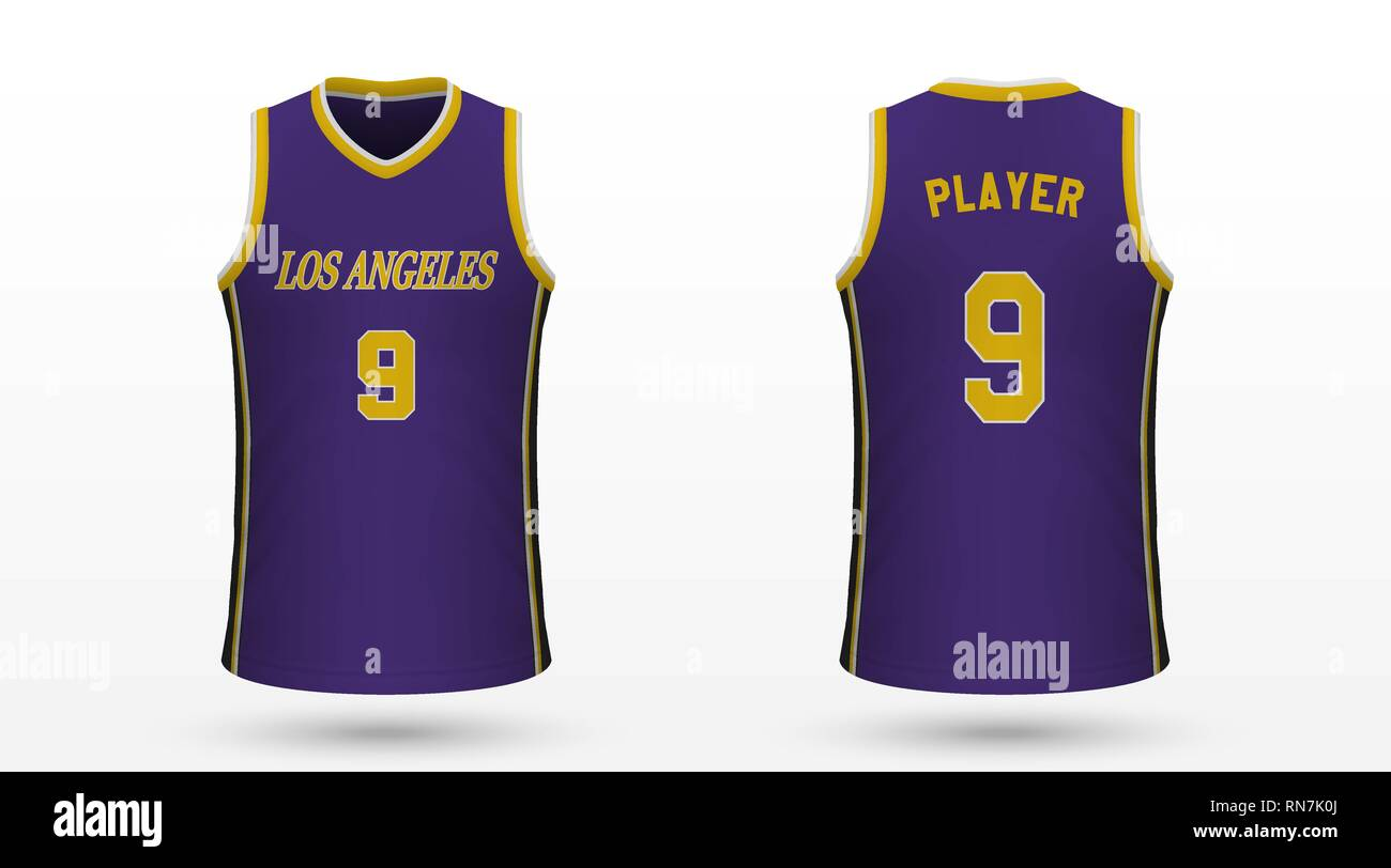 online store 9965d ce5f0 Realistic sport shirt Los Angeles Lakers, jersey template ...
