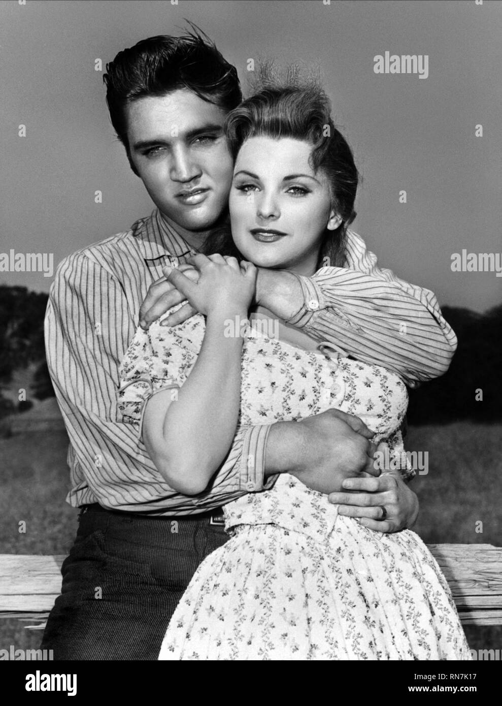 PRESLEY,PAGET, LOVE ME TENDER, 1956 - Stock Image
