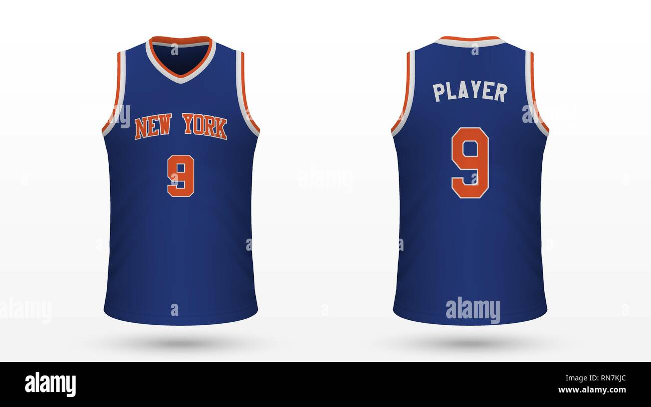 huge selection of e15ac e02cc Realistic sport shirt New York Knicks, jersey template for ...