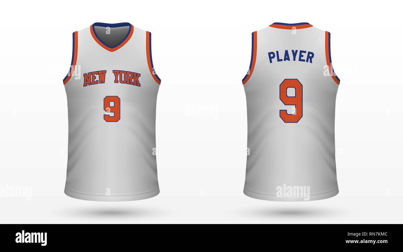 huge selection of cf952 0efb7 Realistic sport shirt New York Knicks, jersey template for ...