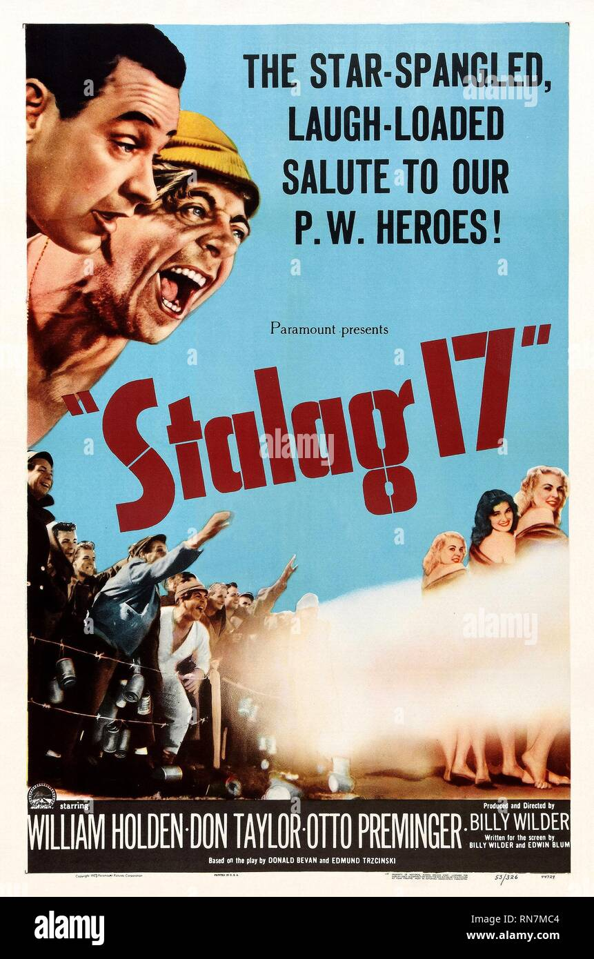 MOVIE POSTER, STALAG 17, 1953 Stock Photo