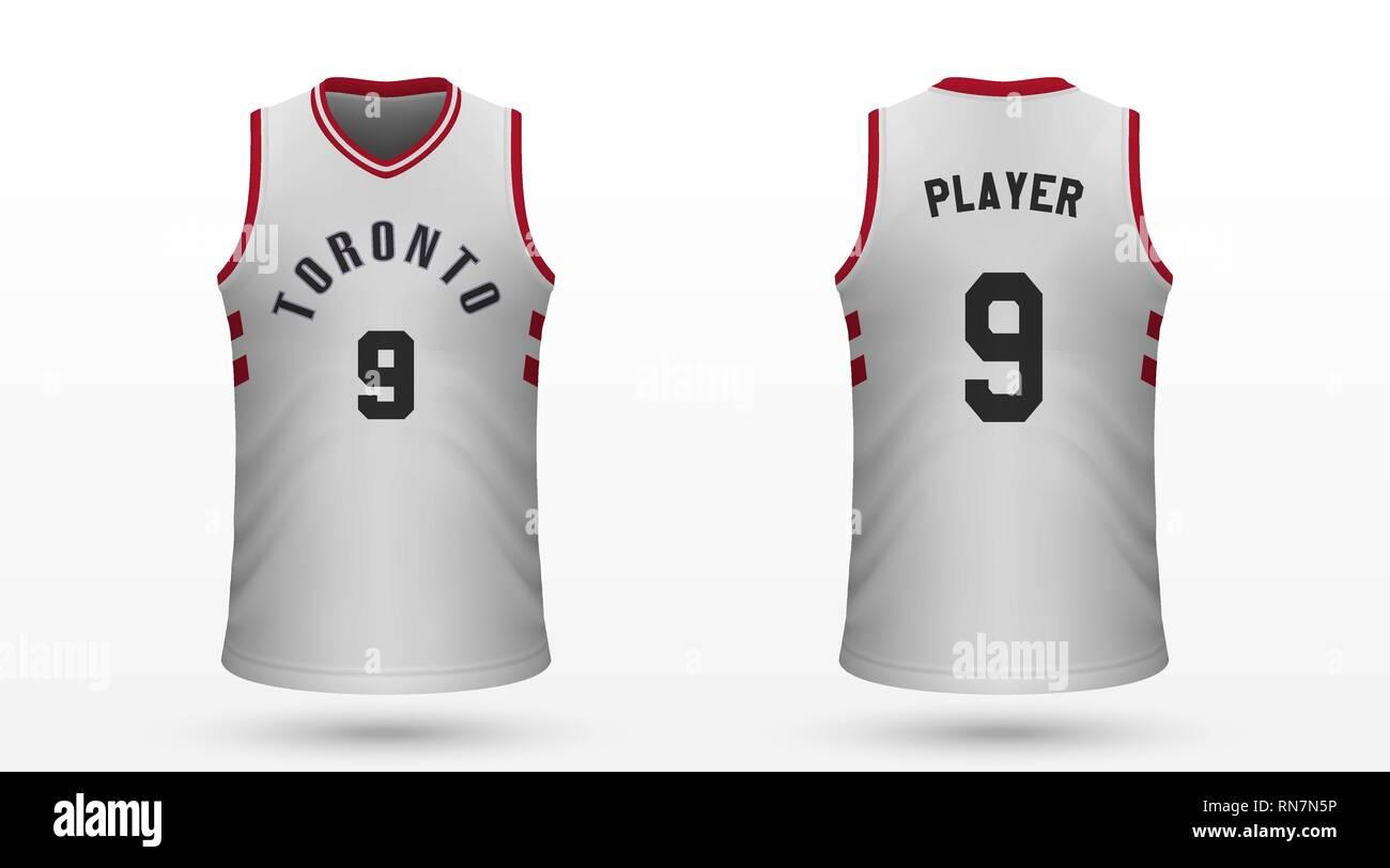 timeless design e18ef 79c7f Realistic sport shirt Toronto Raptors, jersey template for ...
