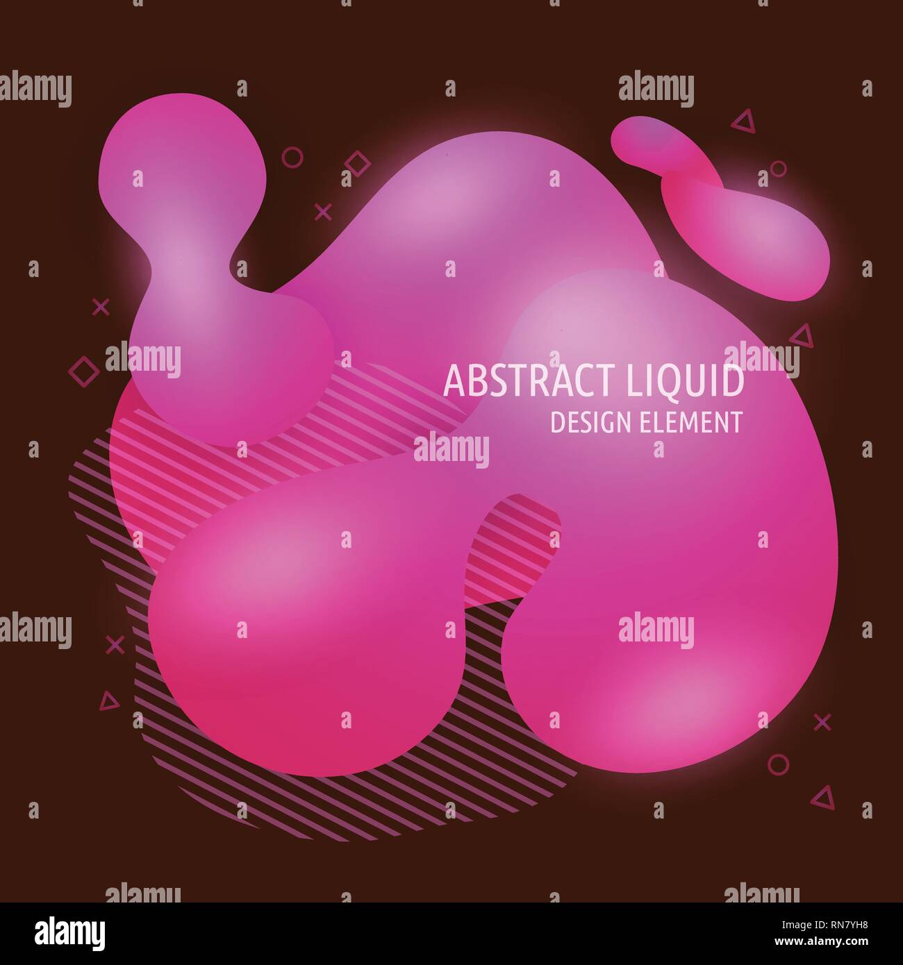 Abstract modern flowing liquid shapes design elements. Dynamical bright gradient colored banner - Stock Vector