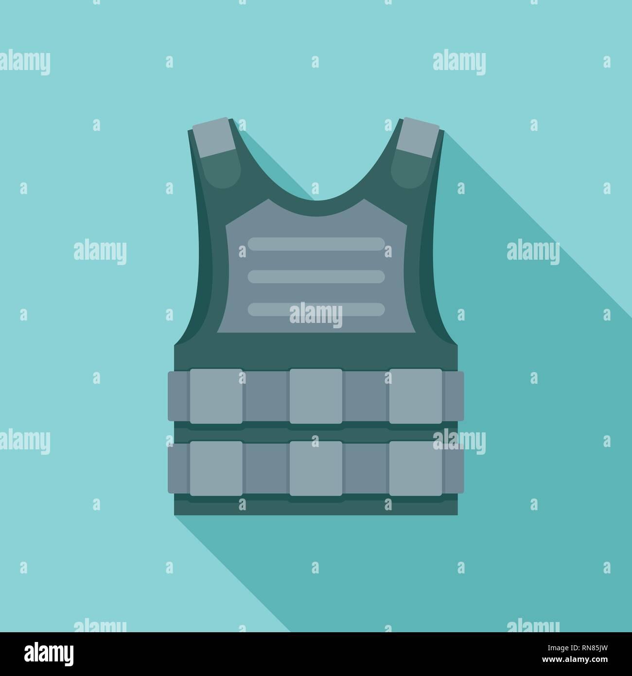 280dd8e60c6 Bulletproof vest icon. Flat illustration of bulletproof vest vector icon  for web design - Stock