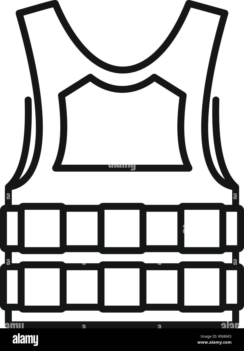 11d03d072bd Bulletproof vest icon. Outline bulletproof vest vector icon for web design  isolated on white background