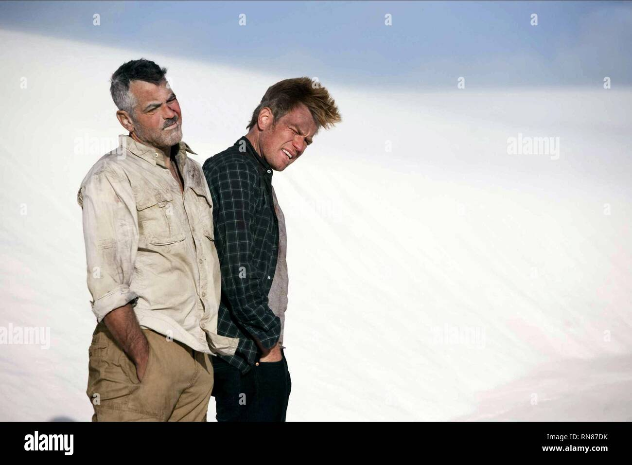 CLOONEY,MCGREGOR, THE MEN WHO STARE AT GOATS, 2009 - Stock Image