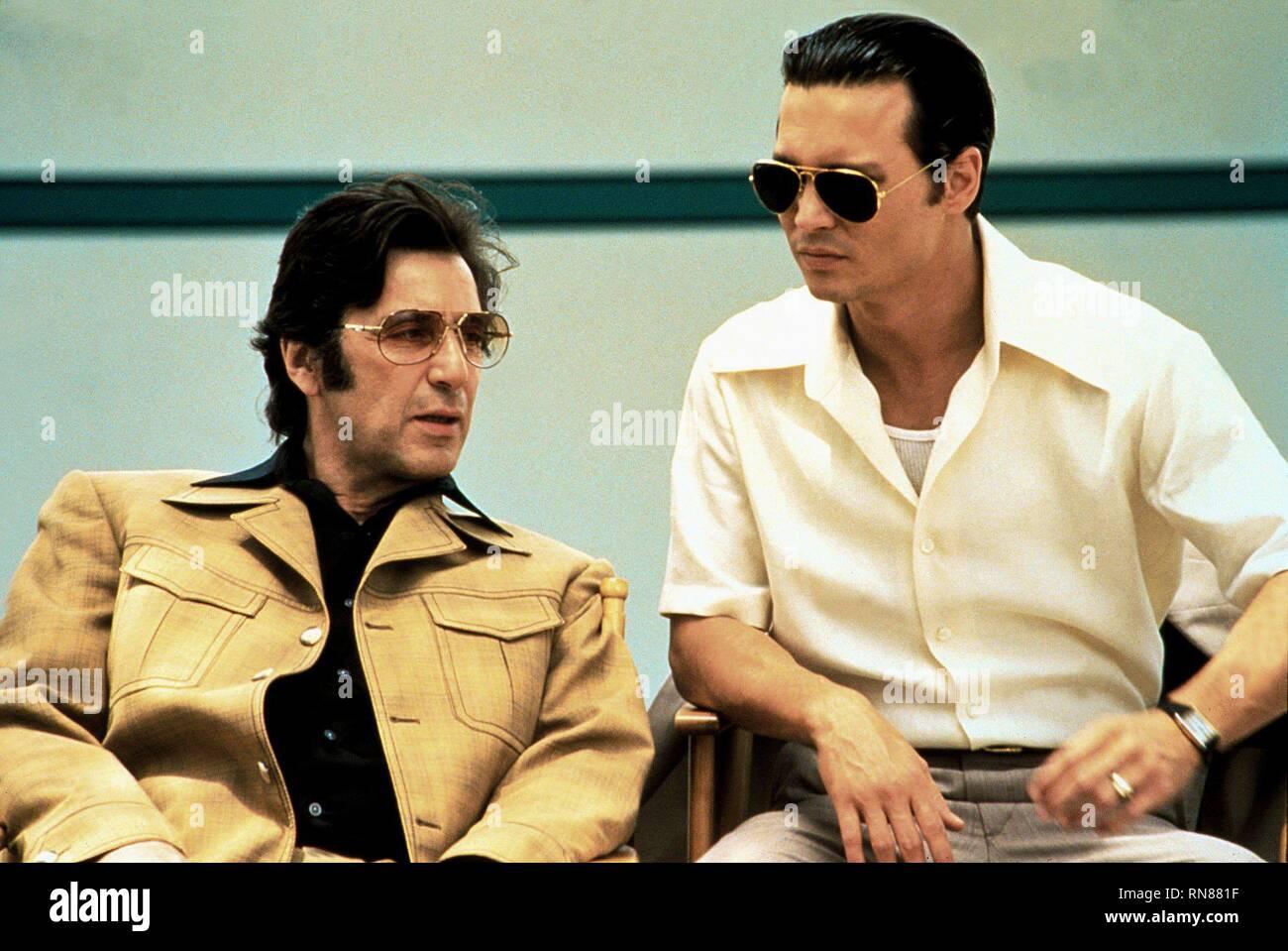 PACINO,DEPP, DONNIE BRASCO, 1997 Stock Photo