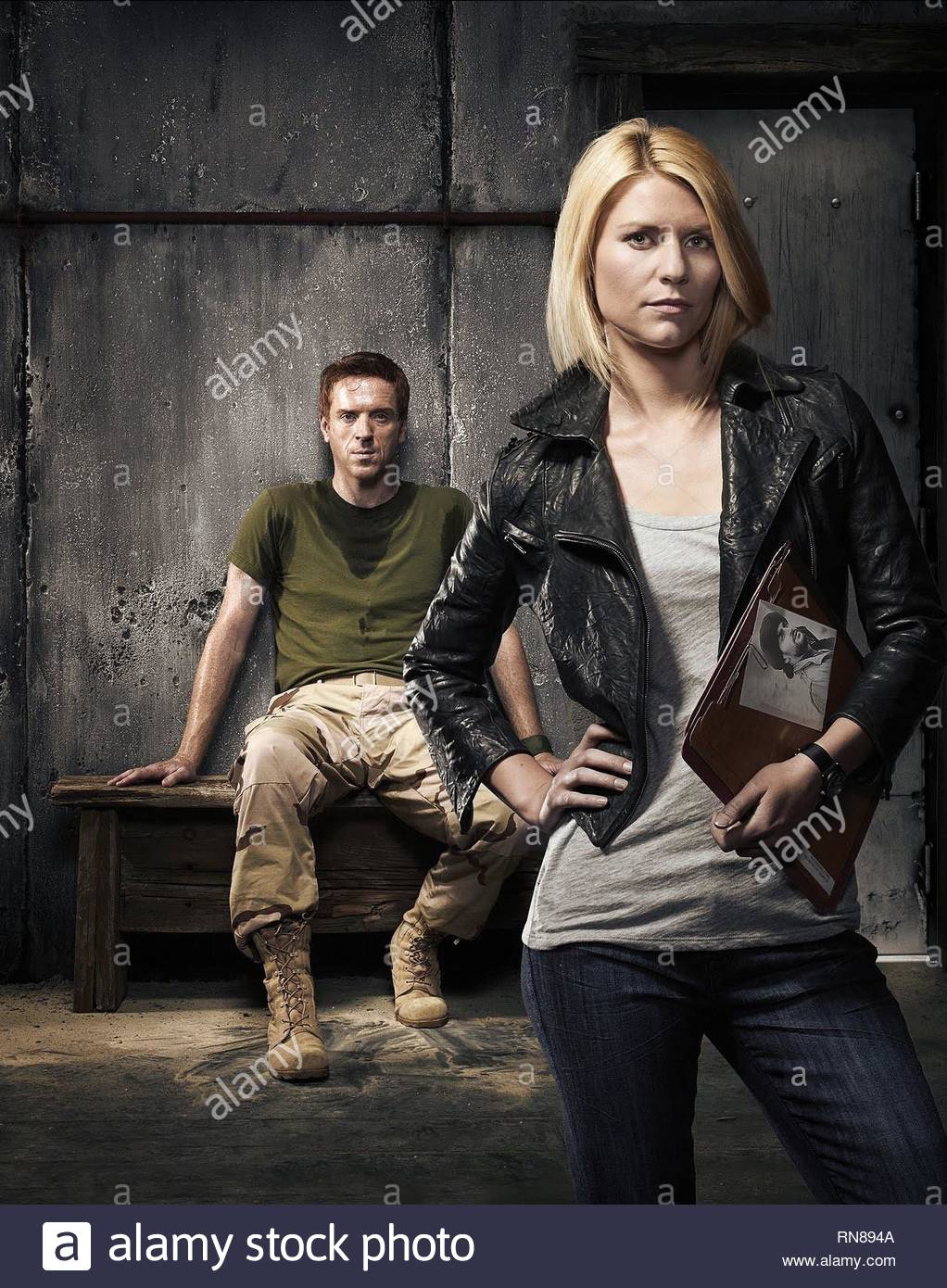 DAMIAN LEWIS,CLAIRE DANES, HOMELAND, 2011 - Stock Image