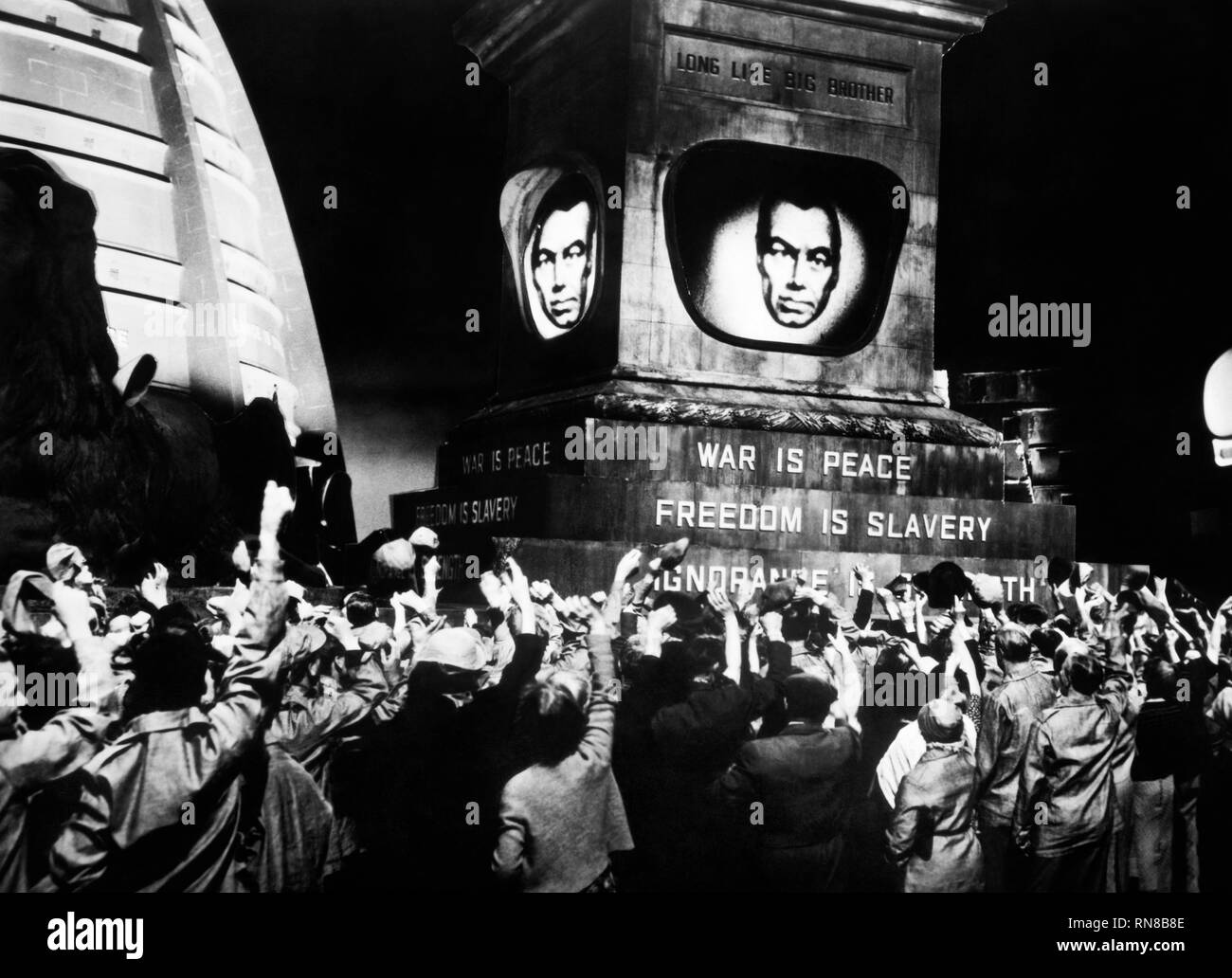 BIG BROTHER IS WATCHING SCREEN, 1984, 1956 Stock Photo