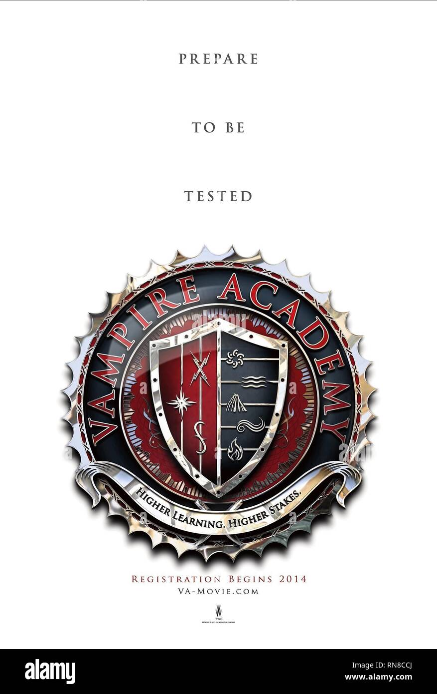 MOVIE POSTER, VAMPIRE ACADEMY, 2014 - Stock Image