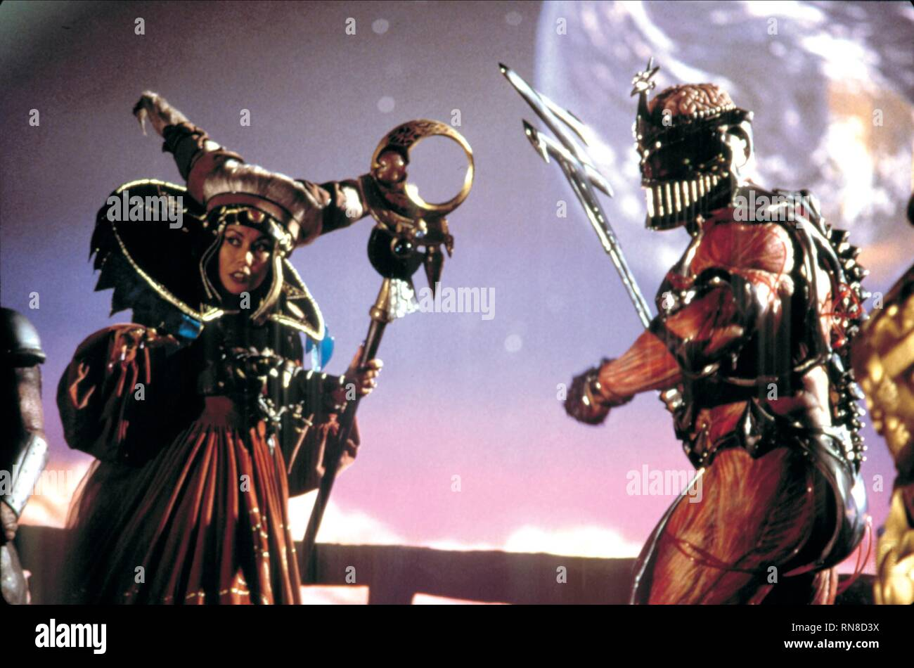 CORTEZ,GINTHER, MIGHTY MORPHIN POWER RANGERS: THE MOVIE, 1995 - Stock Image