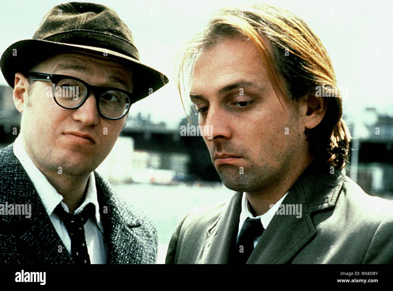 ADE EDMONDSON,RIK MAYALL, BOTTOM, 1991 - Stock Image