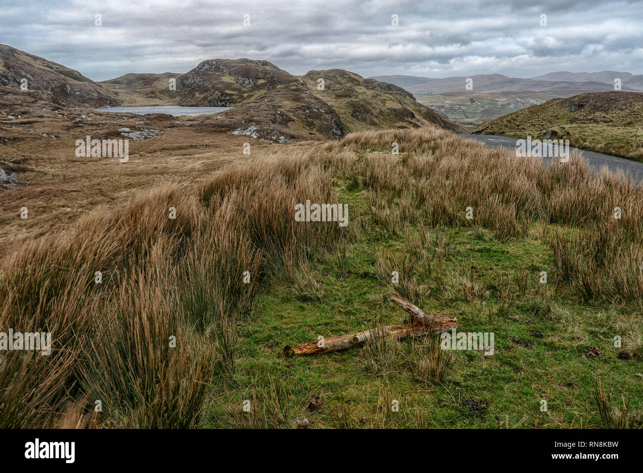 Donegal's beautiful upland wilderness landscape - Stock Image
