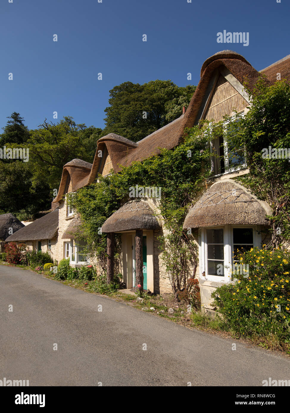 A beautiful cottage near Blackpool Sands in Devon. - Stock Image