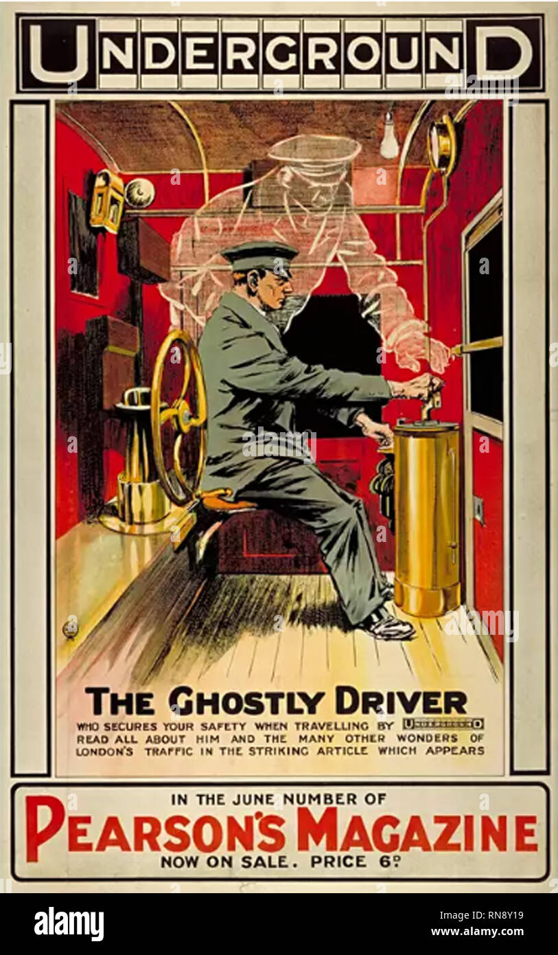 The ghostly driver, artist unknown, 1912 - Stock Image