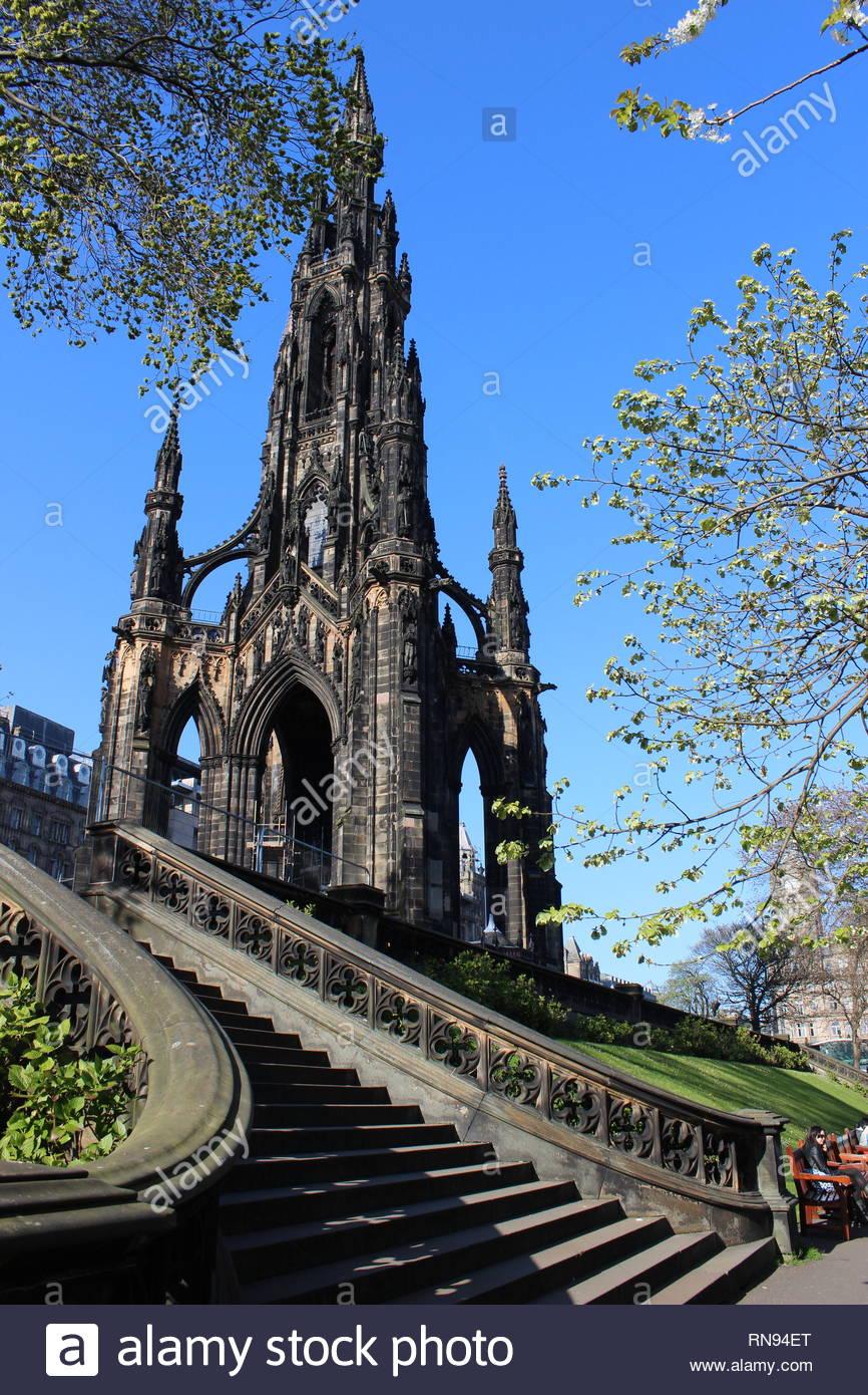 Scot Monument, Edinburgh - Stock Image