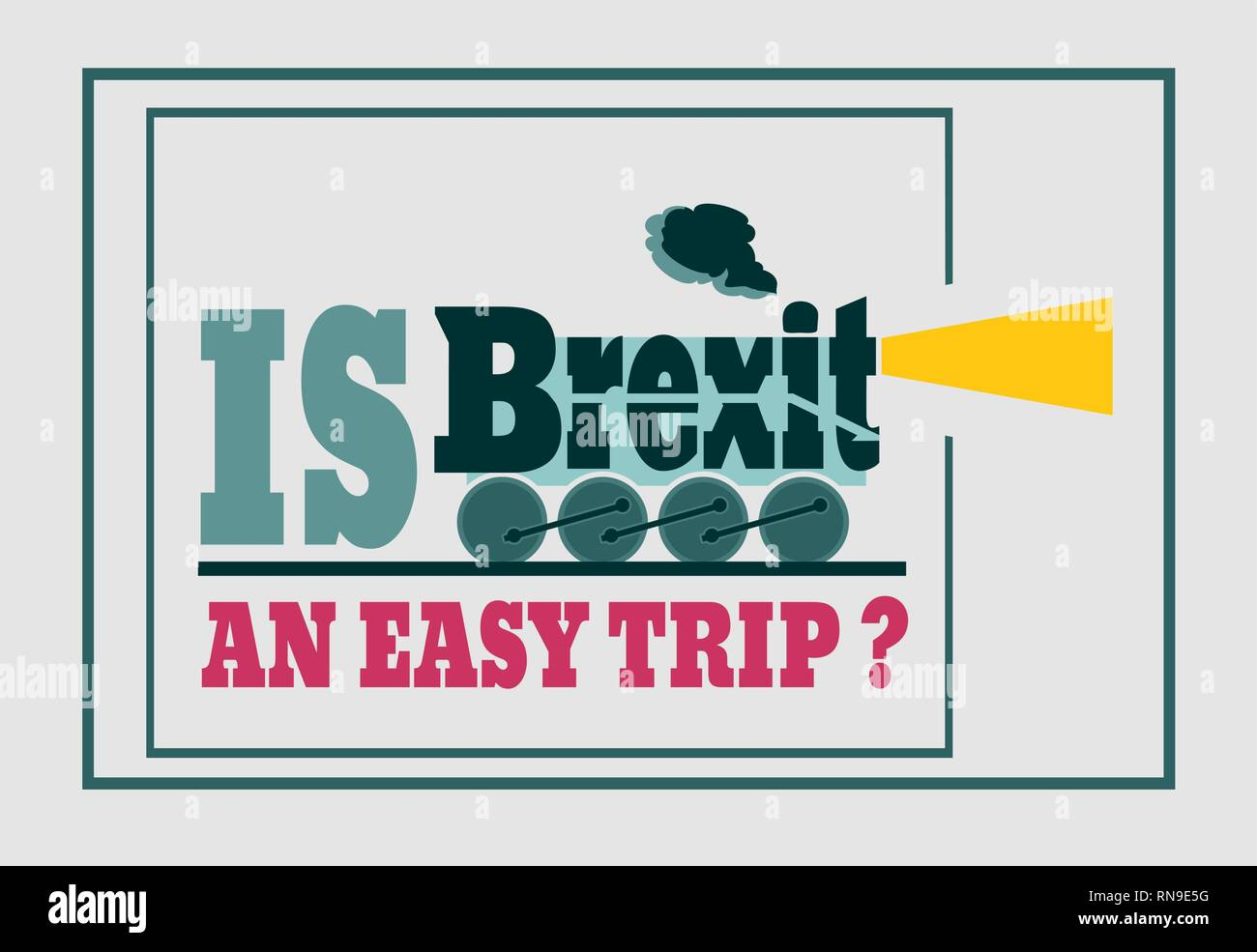 Britain and EU relationships. Brexit question - Stock Vector