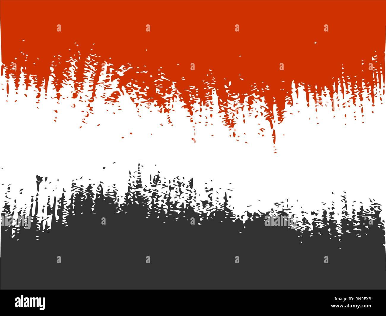 Yemen flag design concept - Stock Vector