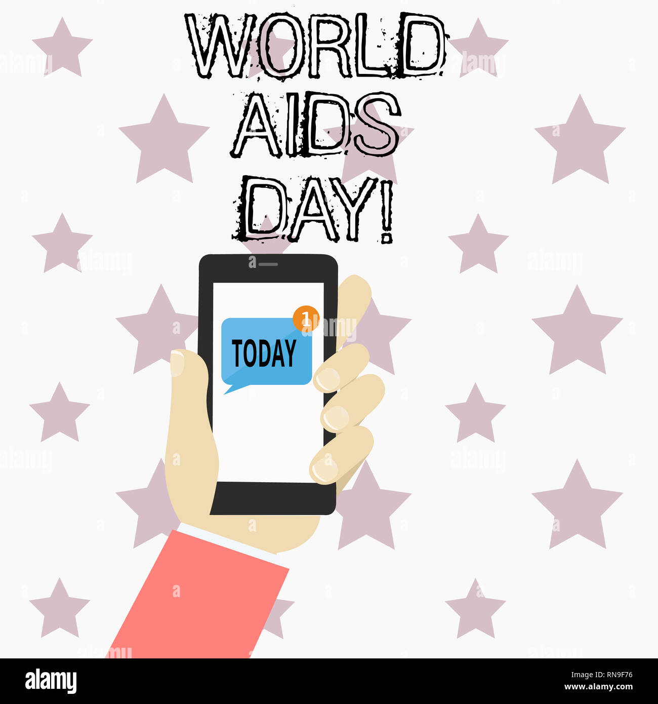 Handwriting text writing World Aids Day. Concept meaning 1st December dedicated to raising awareness of the AIDS - Stock Image