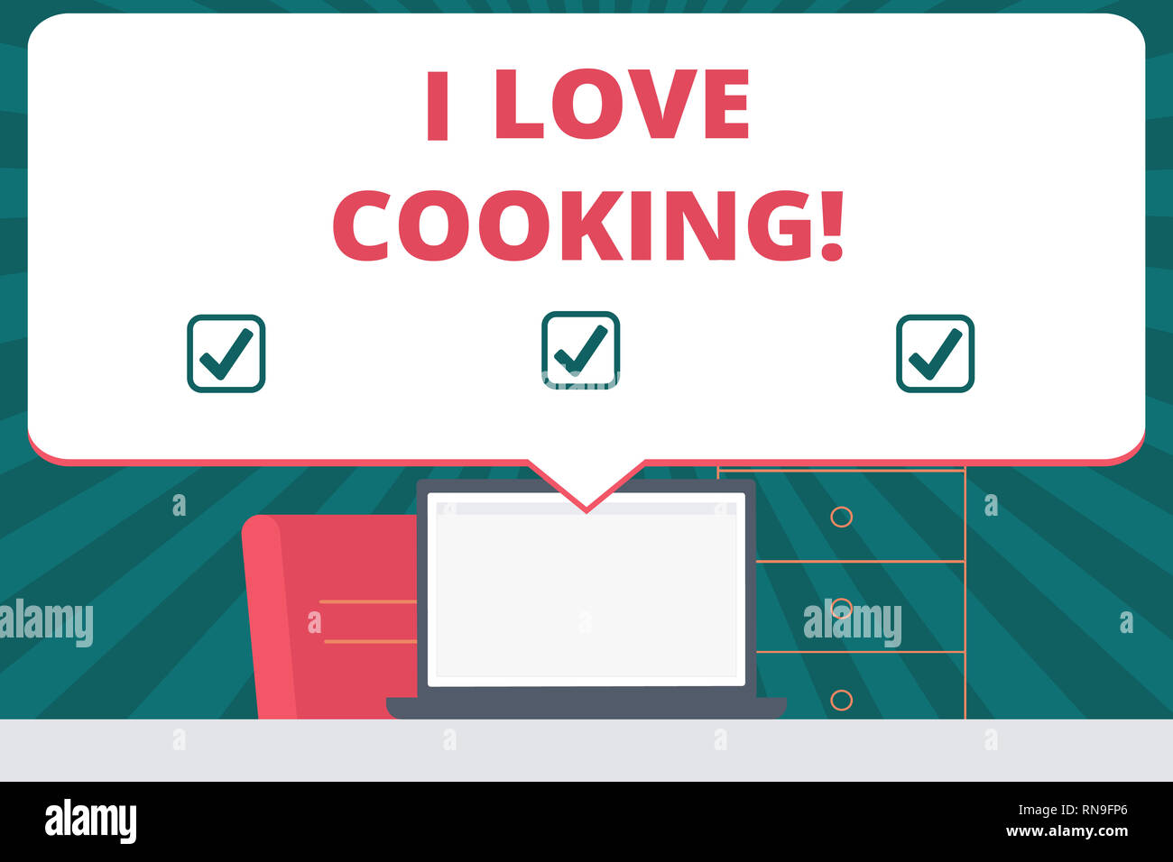 Handwriting Text Writing I Love Cooking Concept Meaning Having Affection For Culinary Arts Prepare Foods And Desserts Stock Photo Alamy