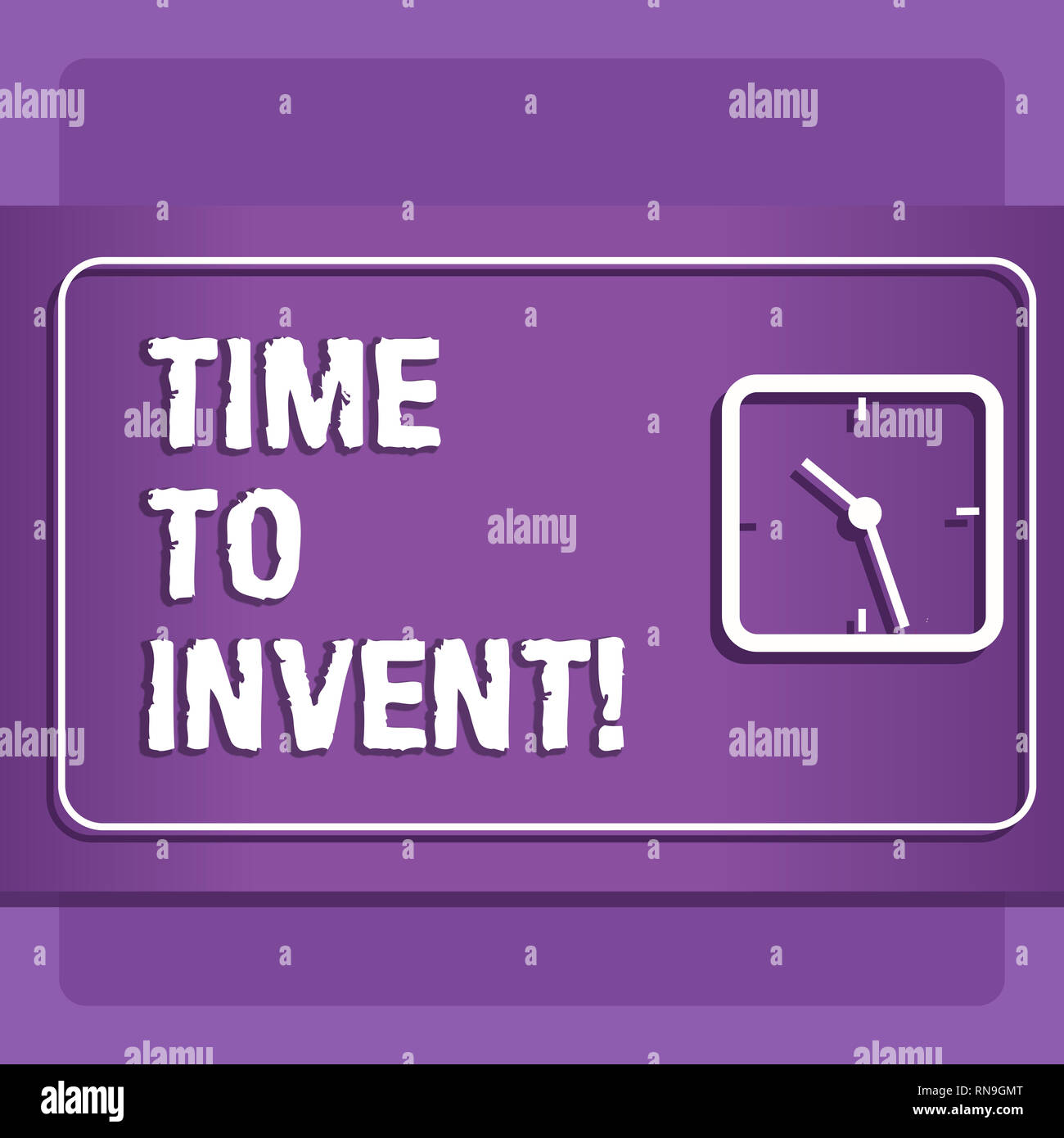 Word writing text Time To Invent. Business concept for Invention of something new different innovation creativity - Stock Image
