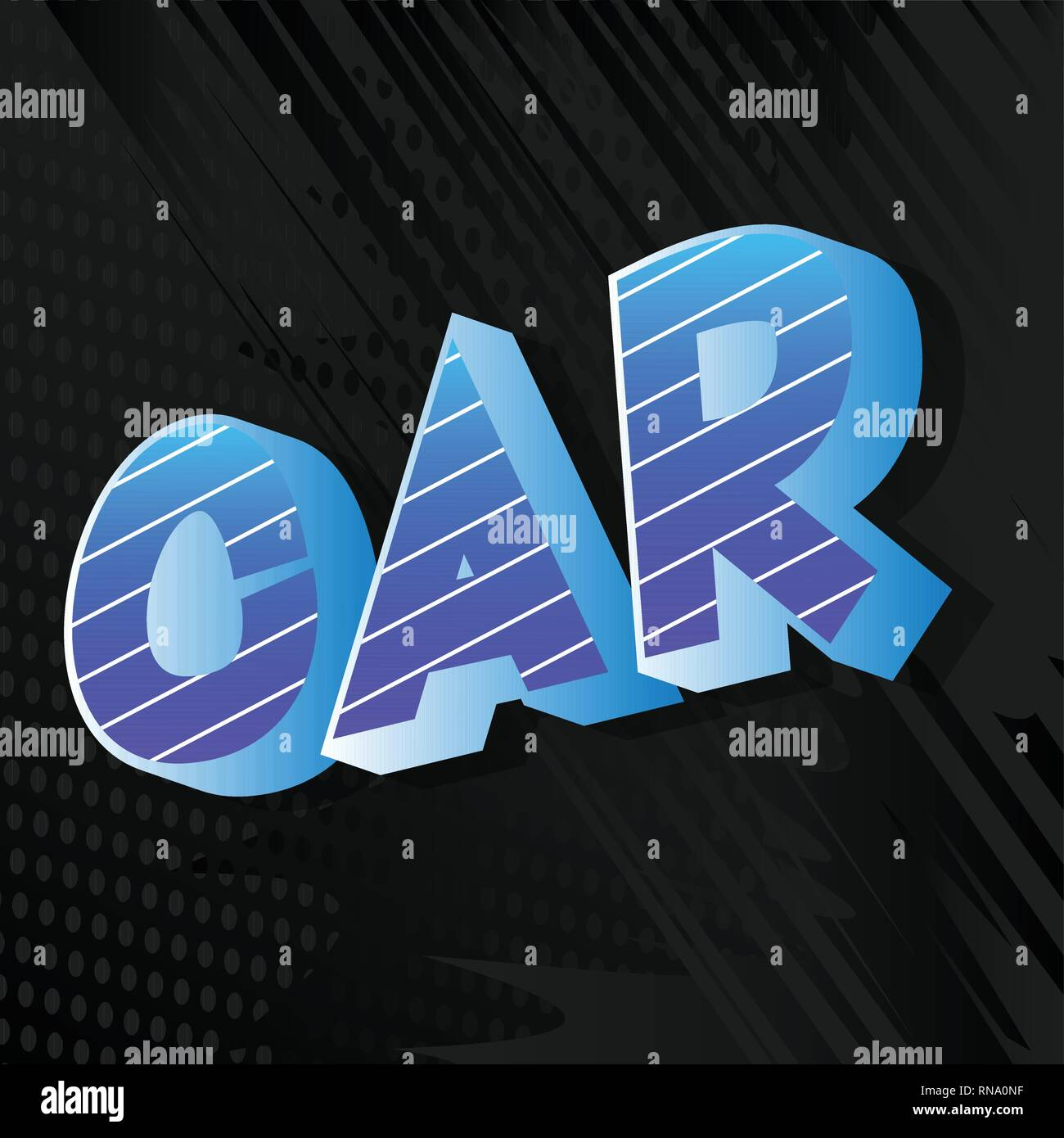 Car - Vector illustrated comic book style phrase on abstract background. - Stock Image