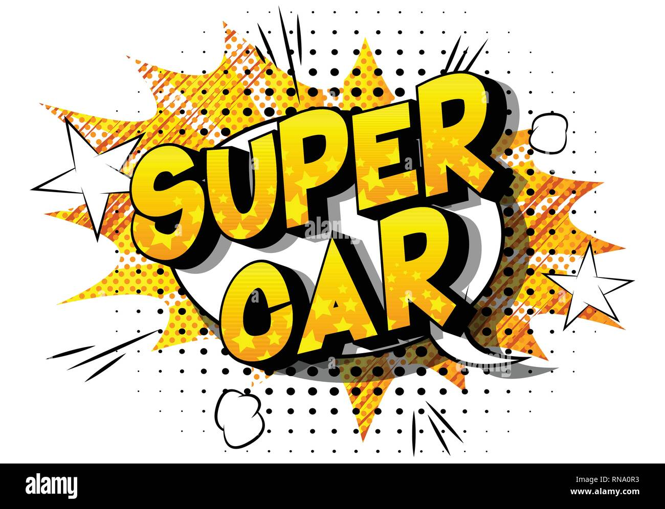 Super Car - Vector illustrated comic book style phrase on abstract background. - Stock Image