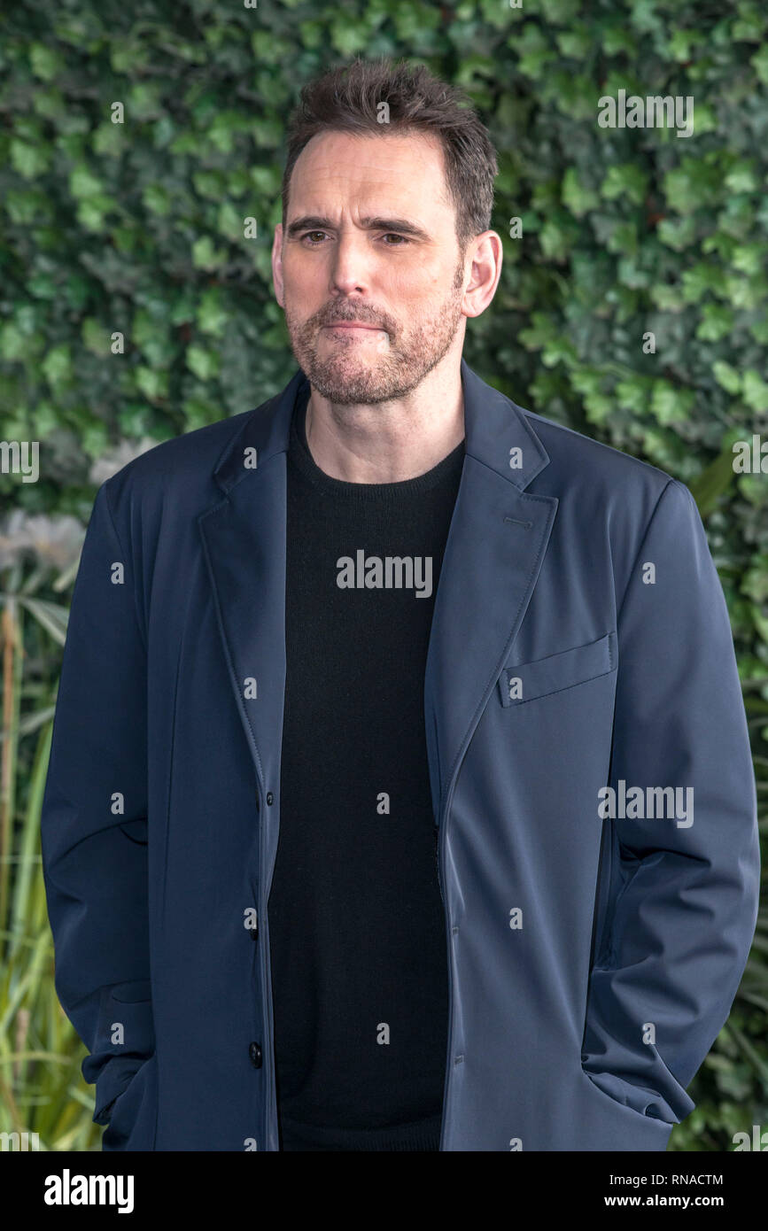 Rome, Italy. 18th Feb 2019. Matt Dillon attending the photocall of 'The house that Jack built' at Bernini Bristol Hotel in Rome Credit: Silvia Gerbino/Alamy Live News - Stock Image