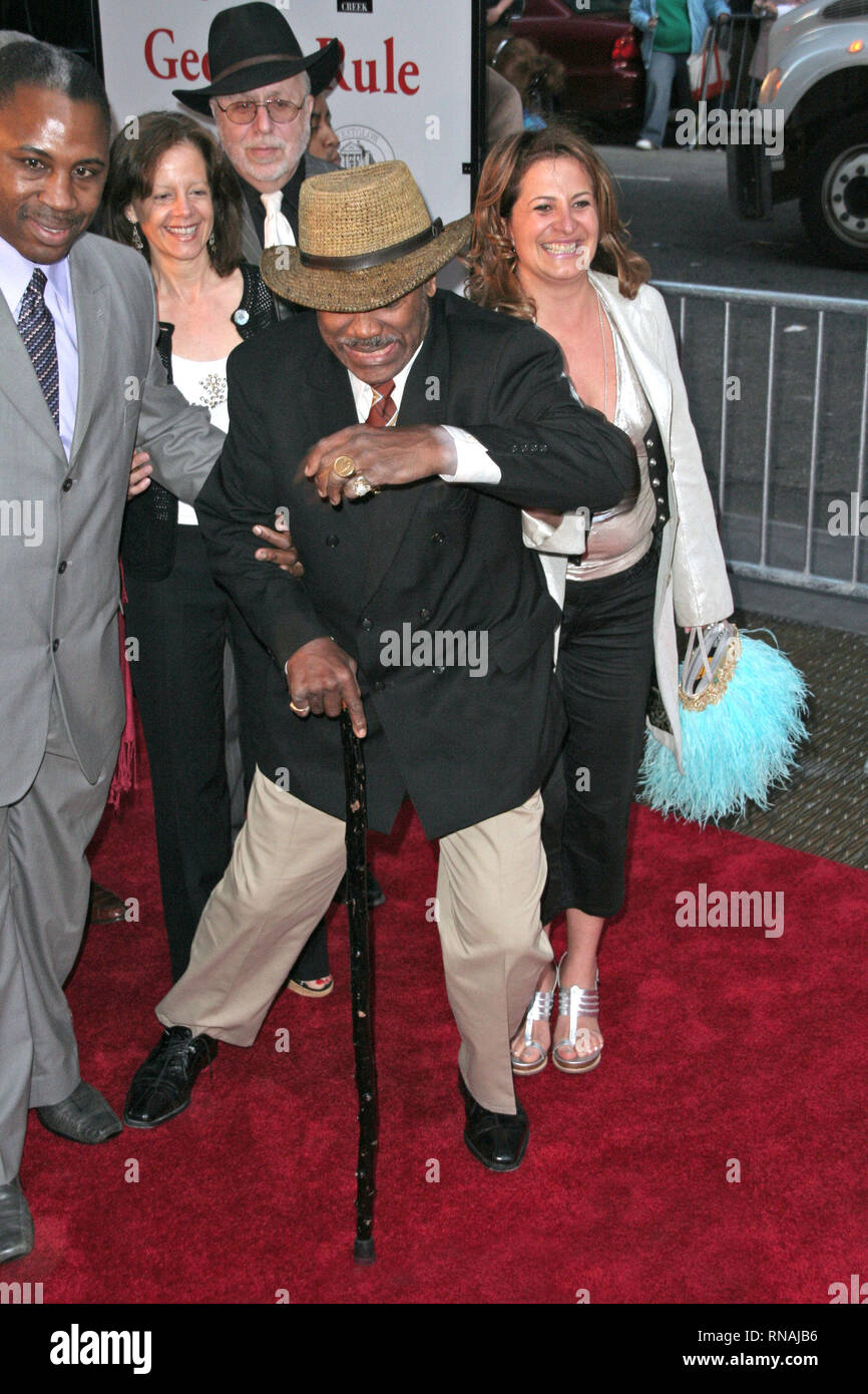 New York, USA. 08 May, 2007. Joe Frazier at The Tuesday, May 8, 2007 New York Premiere for 'Georgia Rule' at The Ziegfield Theater in New York, USA. Credit: Steve Mack/S.D. Mack Pictures/Alamy Stock Photo