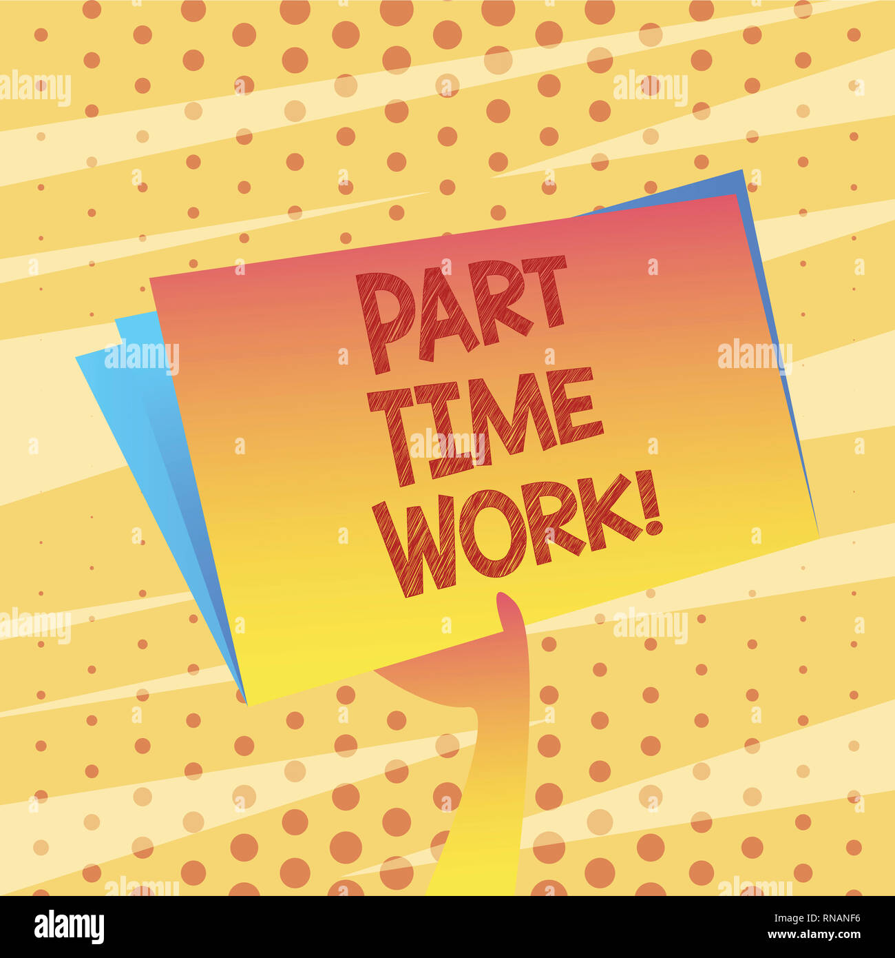 Conceptual hand writing showing Part Time Work  Business photo