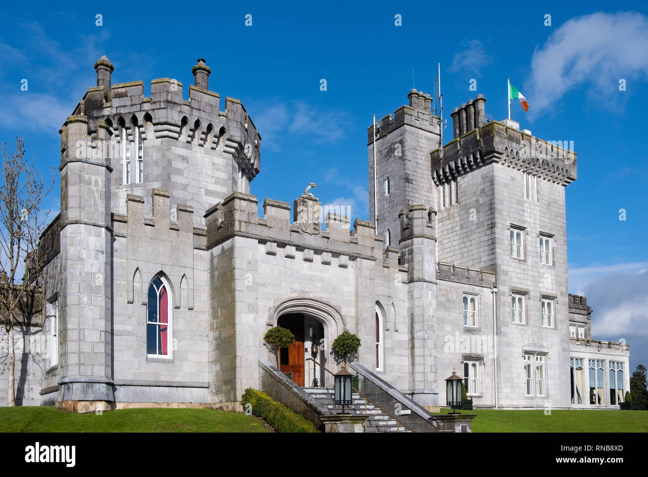The historic 16th Century Dromoland Castle Hotel and Golf Resort in County Clare, Ireland on the Wild Atlantic Way. - Stock Image