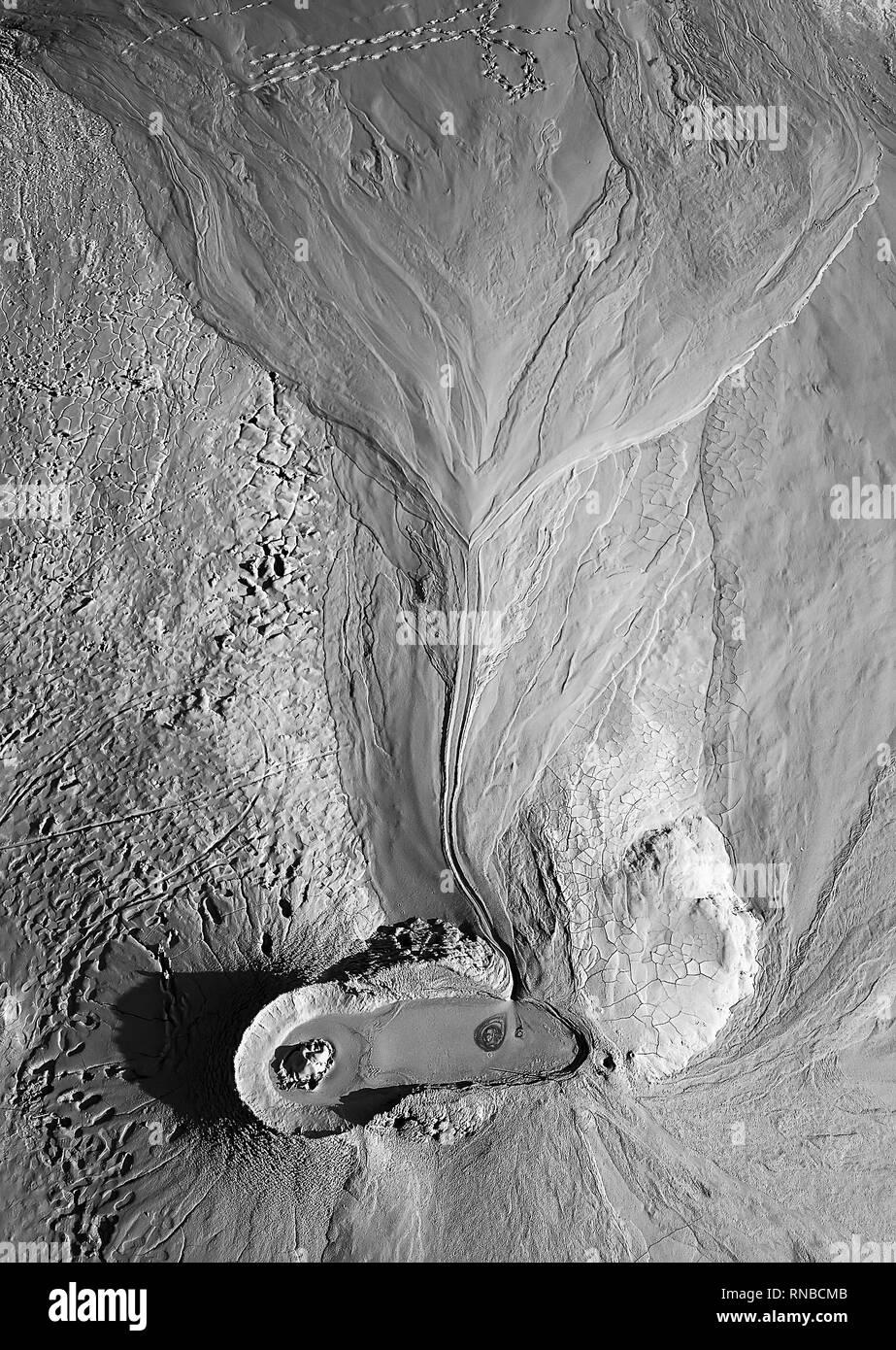 Mud vulcano from Romania - Stock Image