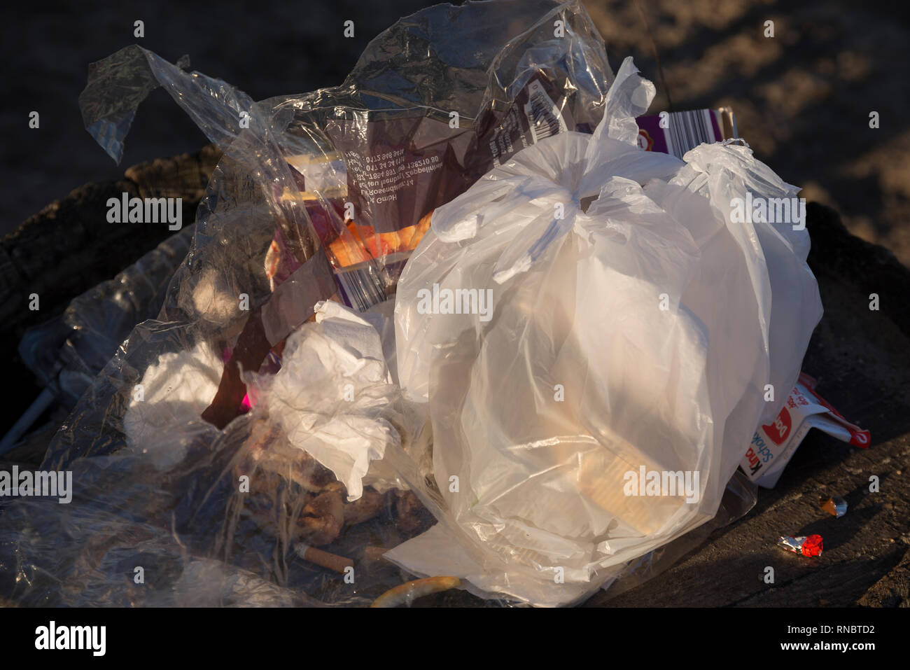 Plastic Pollution - Stock Image