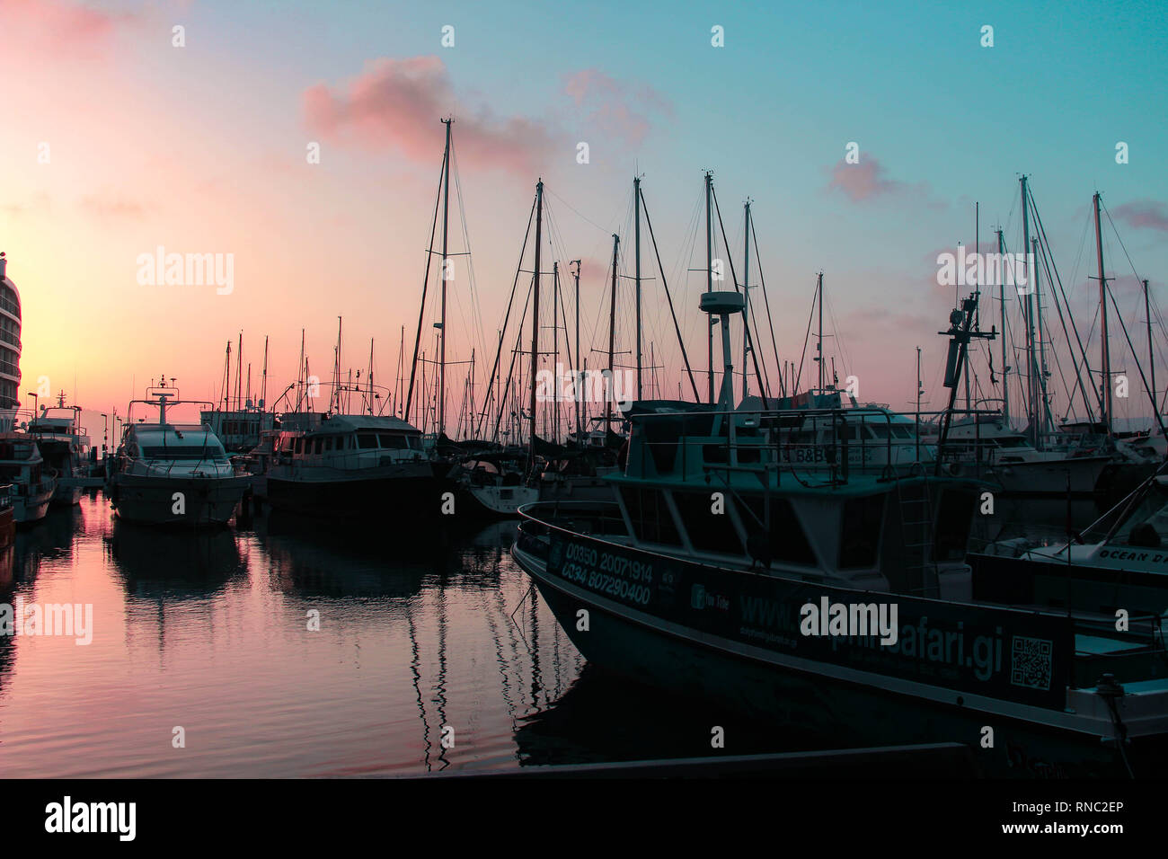 gibraltar bay by the casino - Stock Image