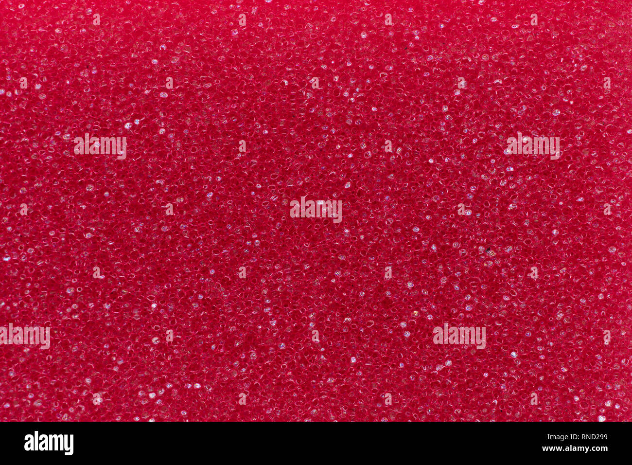 Macro photo of red porous material for background. Stock Photo