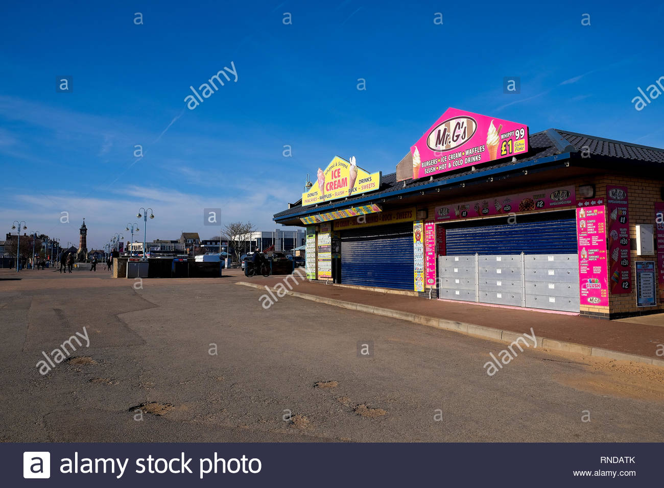 Skegness in Winter, Lincolnshire, UK. - Stock Image