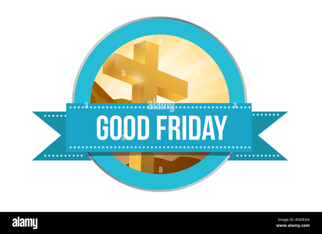 Good Friday day. Religious seal illustration isolated over a white background Stock Photo