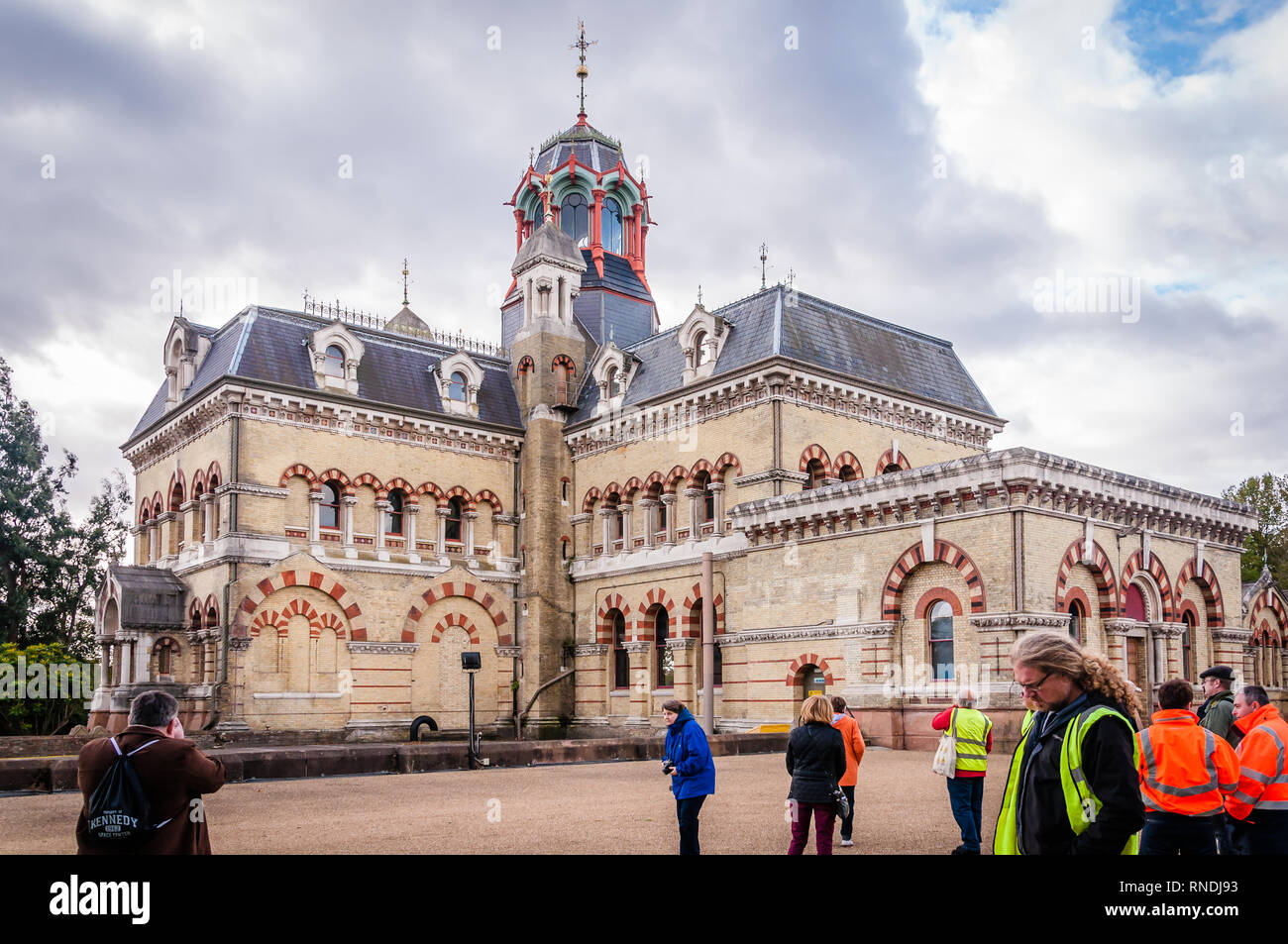 Abbey Mills Pumping Station, Abbey Lane Nicknamed the 'Cathedral of sewage' - Stock Image