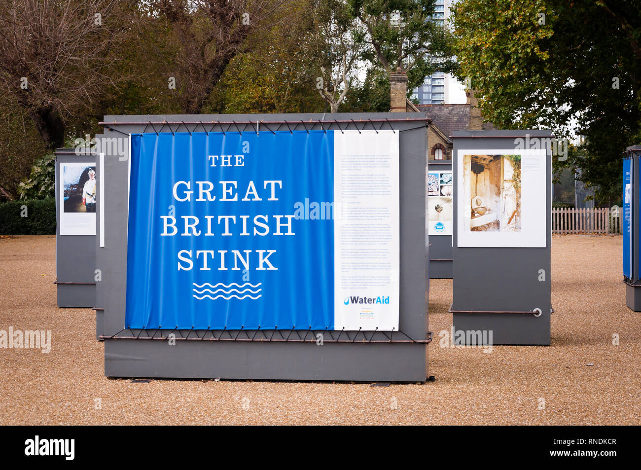 The great British stink  exterior of Abbey Mills Pumping Station, Stratford, London, England, Uk - Stock Image