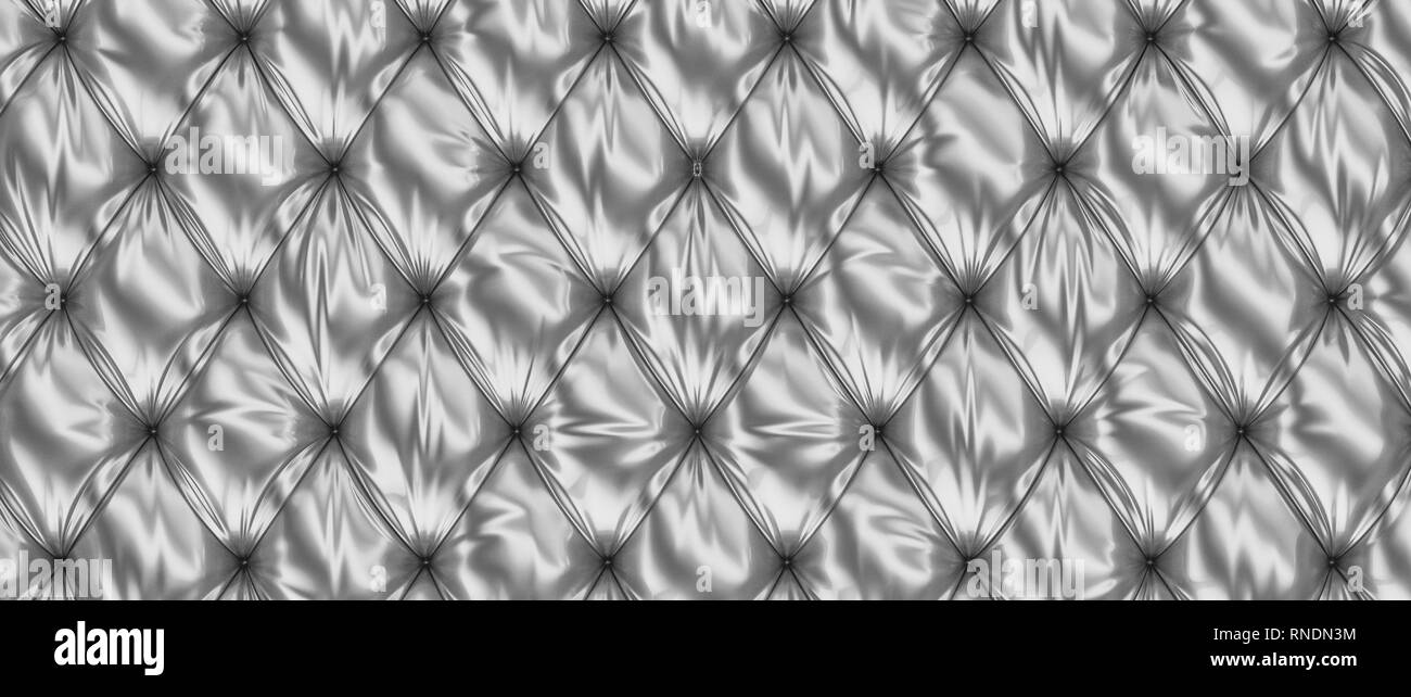 3d rendering image of steel tufted background - Stock Image