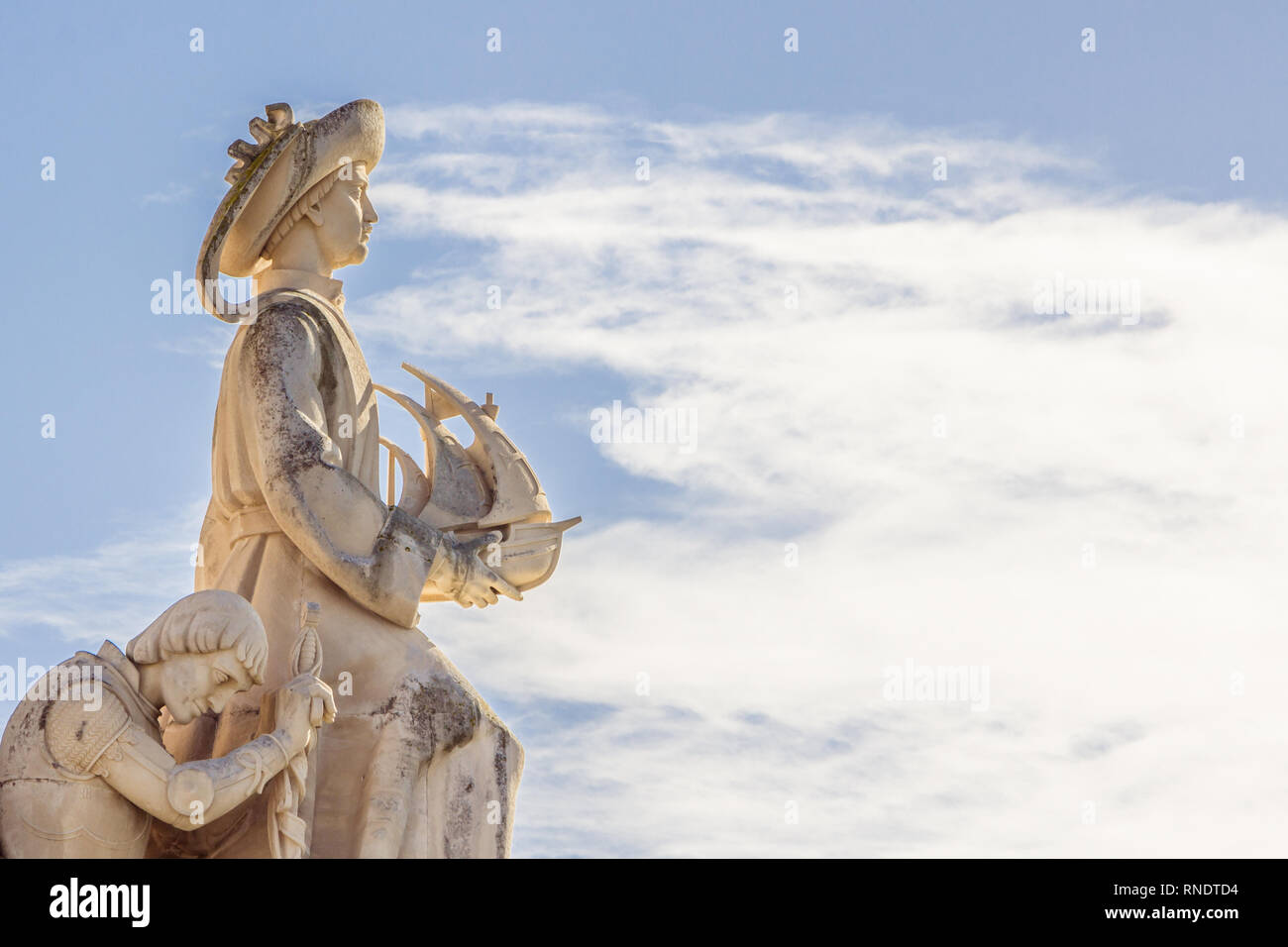 Monument of the Discoveries, Lisbon, Portugal. Monument built for the portuguese world exhibition of 1940. - Stock Image