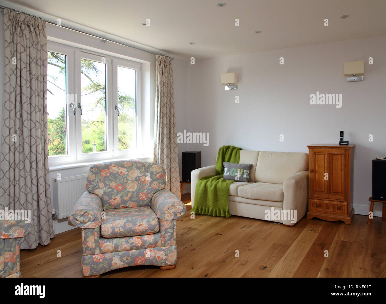 Aoartment living room - Stock Image