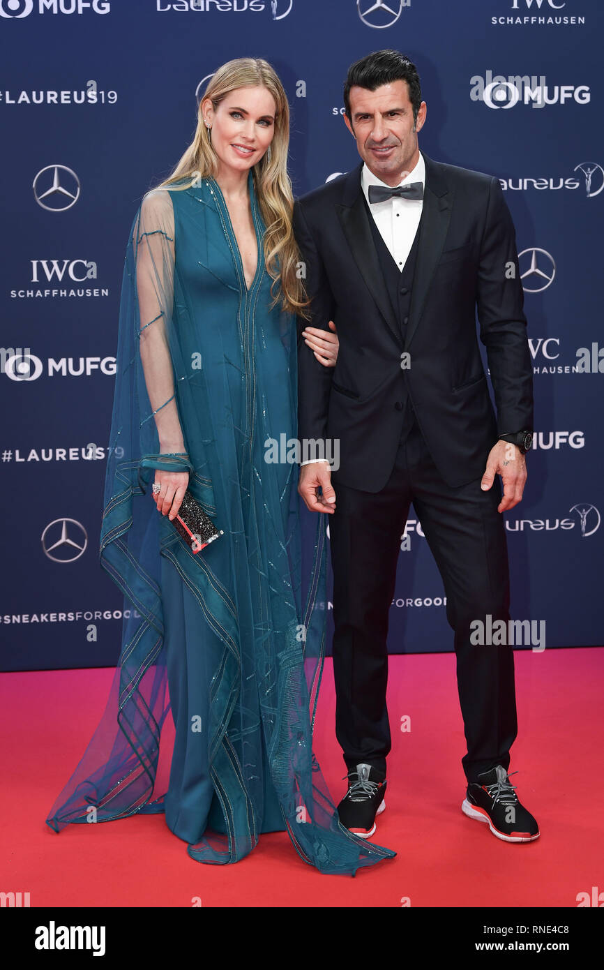 Monaco, Monaco  18th Feb, 2019  Luis Figo (Laureus Academy Member, r